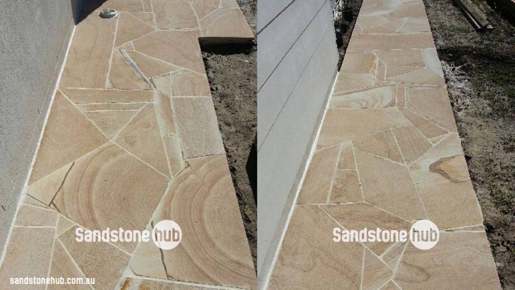 Sandstone Crazy Paving Random Shapes