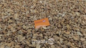 Sandstone Unwashed Crushed Pebbles 20mm Peaches and Cream Colours