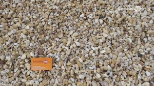 Sandstone Crushed Pebbles Rocks Peach and Cream 20mm Washed