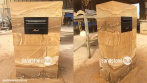 Sandstone Mailbox Formal OR Contemporary Diamond Sawn Finish