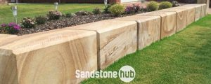 Sandstone Blocks Logs Diamond Sawn Finish With Chamfered Edges