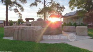 Sandstone Feature in Public Areas and Park