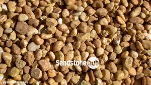Sandstone Pebbles Washed Western Red Colour