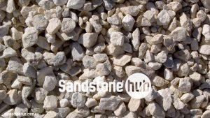 Sandstone Pebble Rocks White Crushed