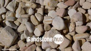 Sandstone Rocks And Pebbles Tumbled Finish