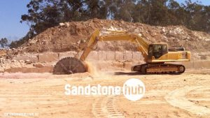 Sandstone Blocks and Logs Quarry Cutting Process