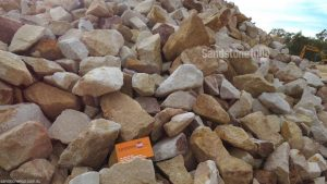 Sandstone Manhandable Rocks and Boulders 50mm - 150mm Multiple Colours