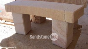 Sandstone Bench Seat Diamond Sawn With Chamfered Edges