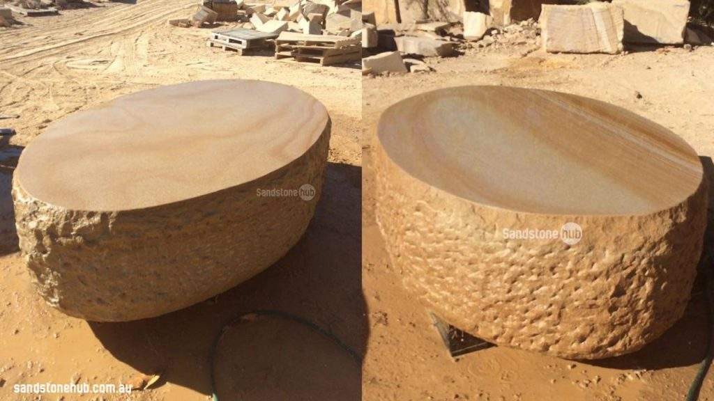 Sandstone Tables And Seats Custom Made For Project