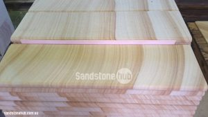 Sandstone Slabs And Steps Bull Nosed Edge