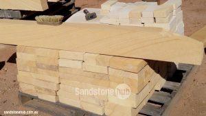 Sandstone Bricks Steps And Edging On Pallet