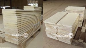 Sandstone Bullnose Pool Capping Yellow/White in Colour with Bullnosed Edge