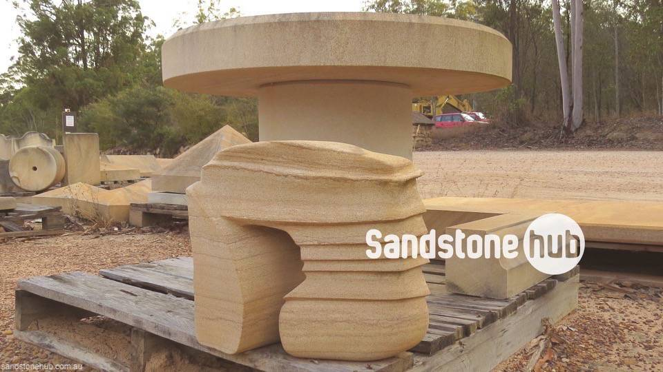 Sandstone Table and Seat Designs Example