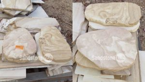 Sandstone Tiles, Pavers and Stepping Stones Random Shapes and Sizes on Pallet