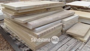 Sandstone Diamond Cut Slabs and Bullnosing at Qaurry Distribution Reserve