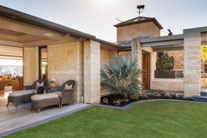 Sandstone Outdoor Living Featuring Modern Design