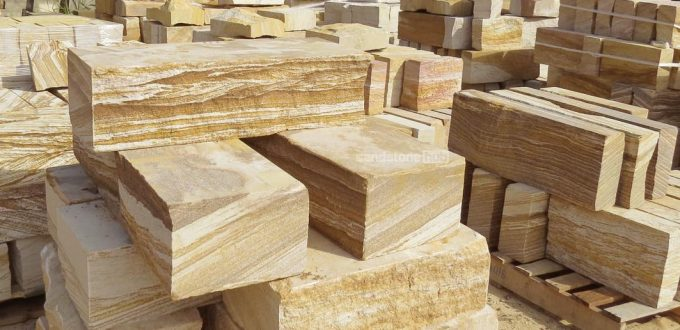 Sandstone Products Blocks Logs Steps Diamond Sawn and Rockfaced Product