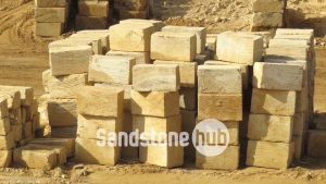 Sandstone A Grade 5 Wheel Sawn Sides Blocks and Logs Yellow Colour