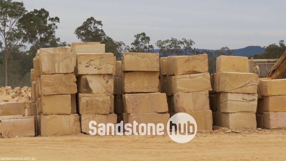 Sandstone Bgrade Yellow Blocks In Quarry Yard