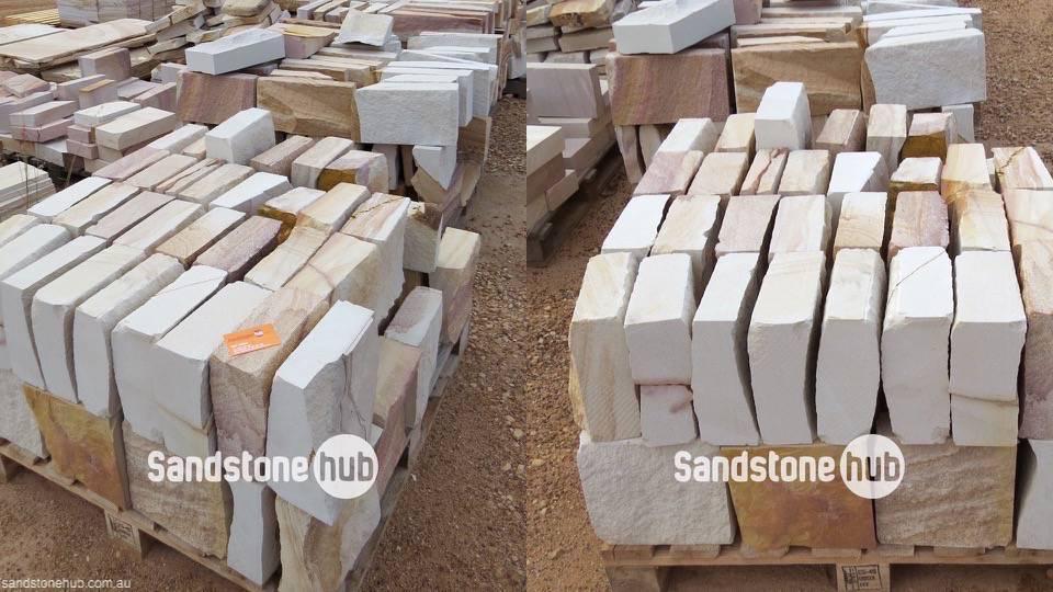 Sandstone Hydrasplit Multicoloured Blocks on Pallet