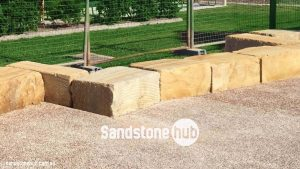 Sandstone Retaining Wall A Grade Blocks Wheel Sawn 5 Sides