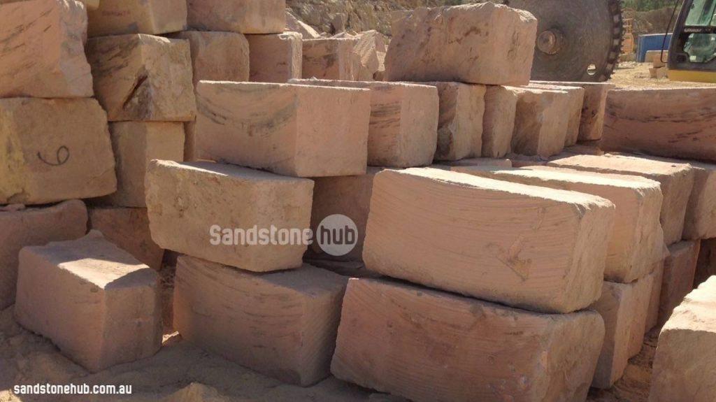 Sandstone Blocks Logs A Grade Wheel Blocks Stacked