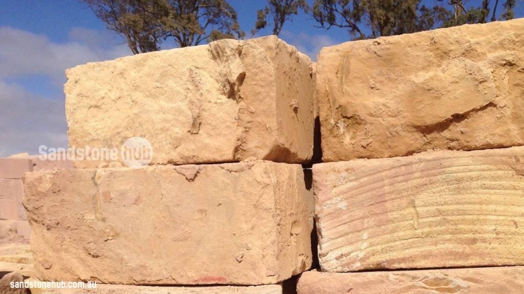 Sandstone Blocks Logs Wheel Sawn Finish