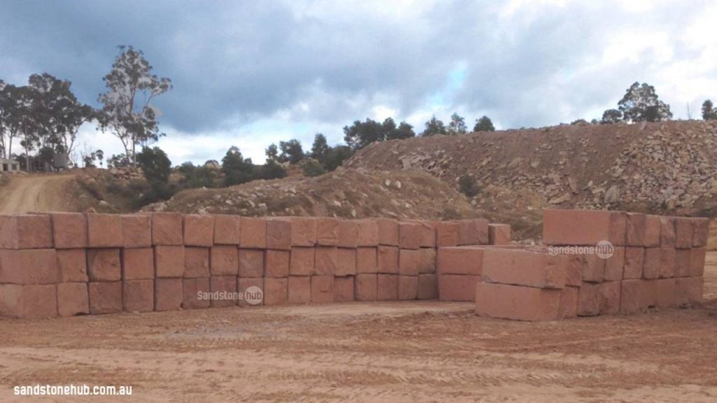 Sandstone Blocks Ready For Delivery To Customers