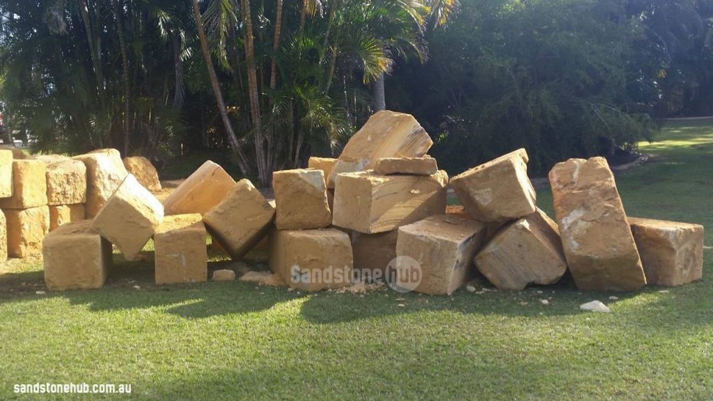 Sandstone Blocks And Logs 5 Wheel Sawn Sides