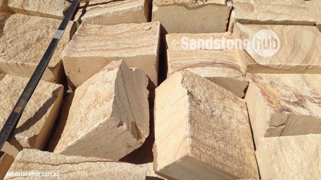 Sandstone Blocks And Bricks Rockfaced Front