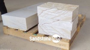 Sandstone Blocks Logs Steps Diamond Cut Pureple Stripe rectangle shape with three smaller diamond cut blocks white