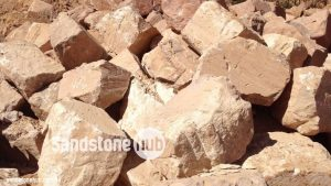 Sandstone Boulders Rocks Random Sizes