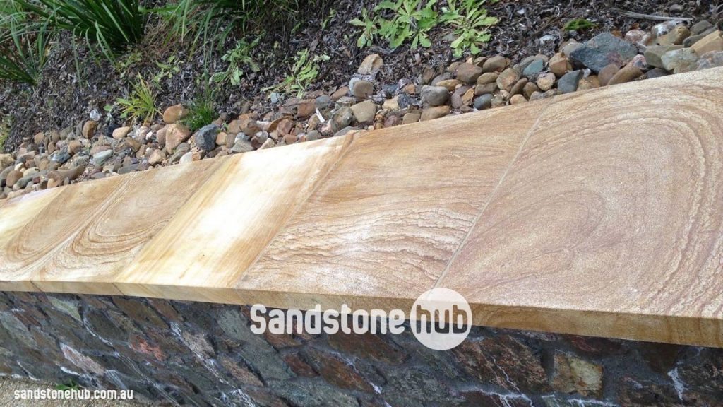 Sandstone Cladding Capping And Tile Product On Stone Wall