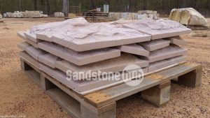 Sandstone Cladding Rock Face Purple and Pink on pallet