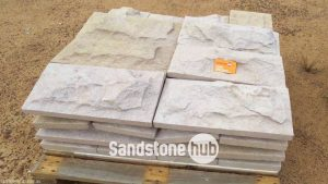 Sandstone Cladding Rock Face Yellow Purple and Pink on pallet