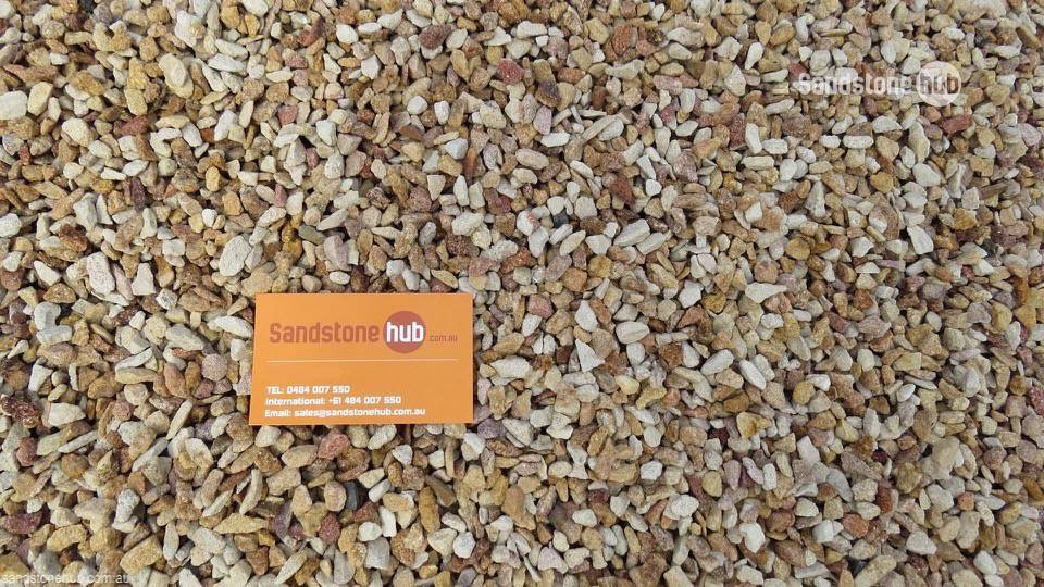 Sandstone Crushed Pebbles Rocks Peach and Cream 10mm Washed