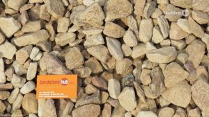 Sandstone Unwashed Crushed Pebbles 50mm Peaches and Cream Colours