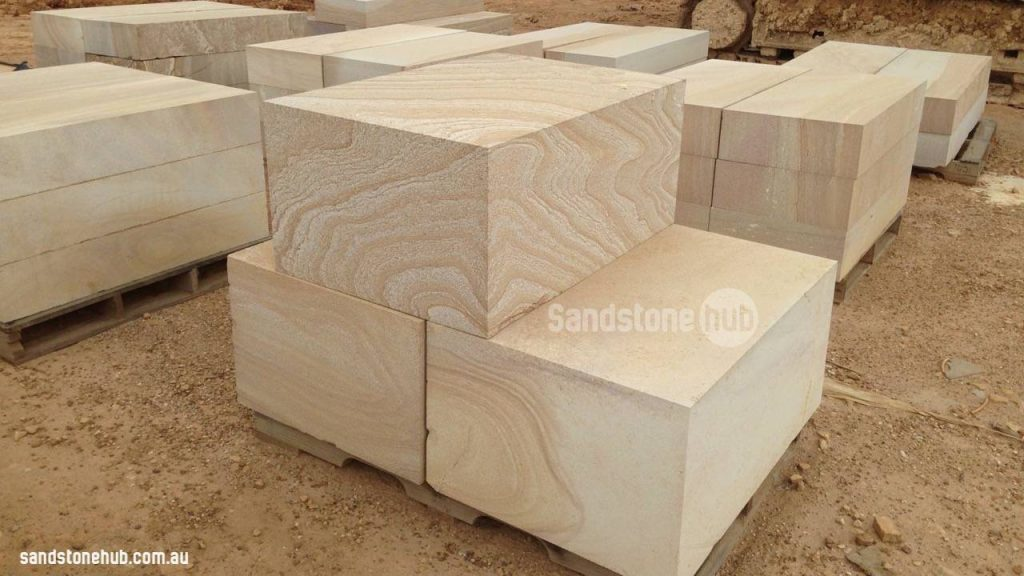 Sandstone Blocks Diamond Cut With Beautiful Colour And Detail