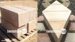 Sandstone Blocks Diamond Cut With Chamfered Edges to Customers Specifications