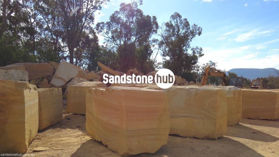 Sandstone A grade Large blocks for exports or made in to factory products