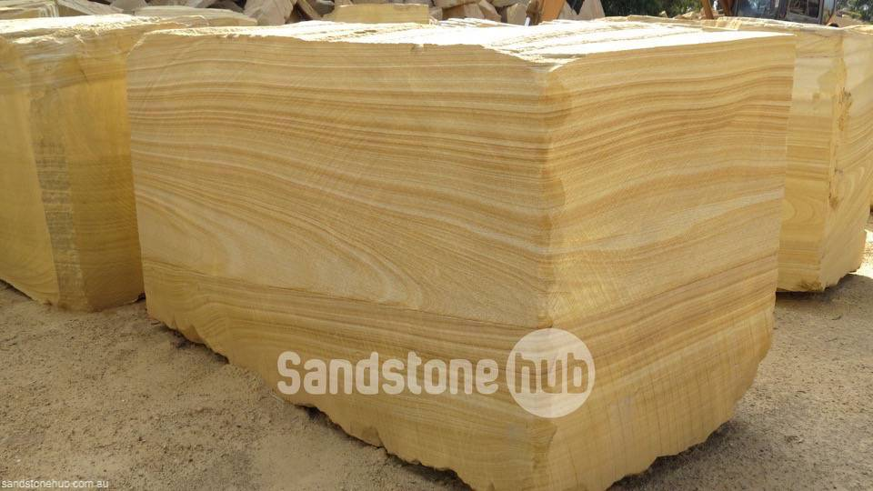 Sandstone Large blocks for exports or made in to factory products Tiger stripes