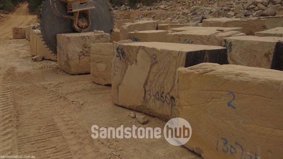 Sandstone Large blocks for exports or made in to factory products Brown
