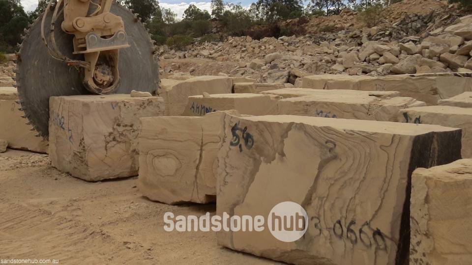 Sandstone Large blocks for exports or made in to factory products White Brown