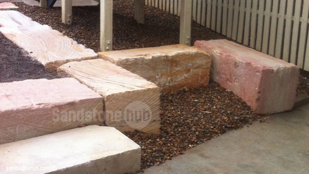 Sandstone Blocks Wheel Sawn Garden Features