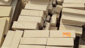 Sandstone Garden Edging and Blocks Creme and Brown Tones