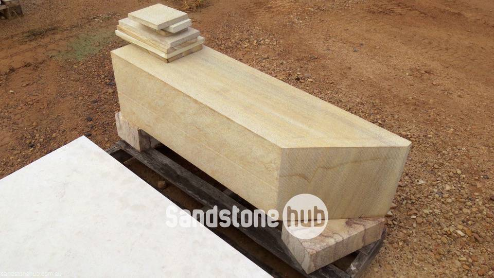 Sandstone Diamond Sawn Block / Log Yellow in Colour