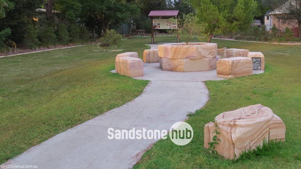 Sandstone in Park-Garden for Outdoor Living and Landscaping