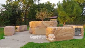 Sandstone Garden Features Parks and Public Areas