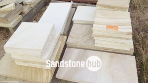 Sandstone Tiles and Pavers Wite and Yellow Tones Various Sizes
