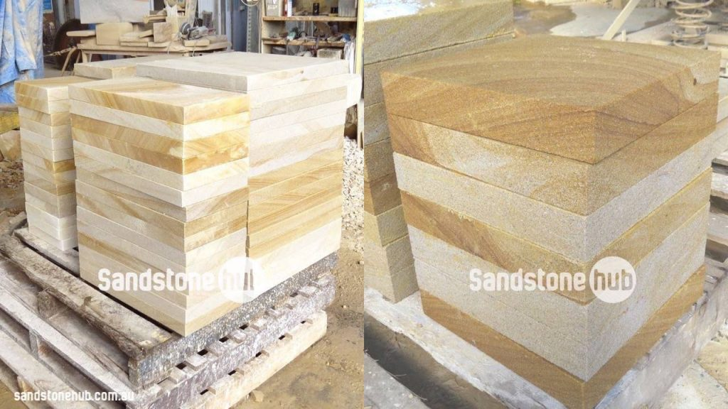 Sandstone Pavers And Tiles Diamond Sawn Stacked Ready